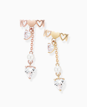 1045819 - <ER1358_CH13> [Sold individually] poling heart ear cuff