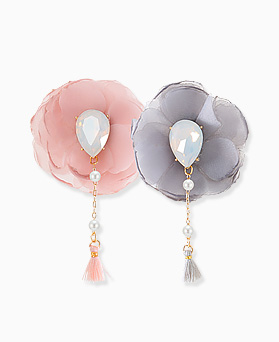 1045821 - <ER1360_CB24> [handmade] selene Flower earrings
