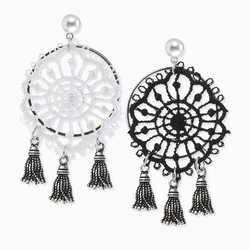1045822 - <ER1363_CA24> [Silver Post] Calliope tassel earrings