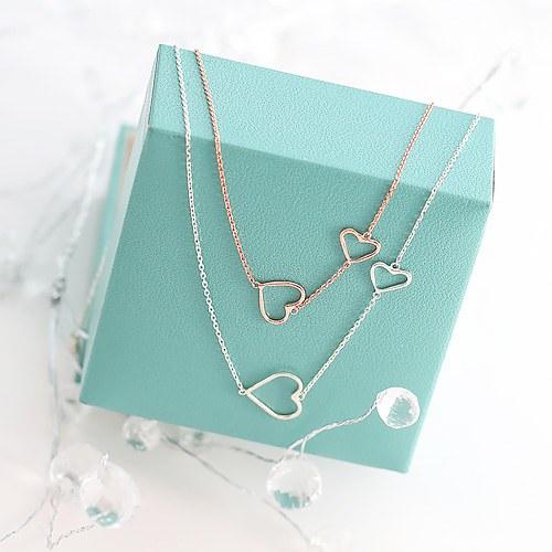 1045826 - <JS253_IG09> [necklace + bracelet + anklet] [Silver] twin heart set