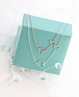 1045826 - <JS253_IG09> [necklace + bracelet + anklet] [Silver] twin heart set