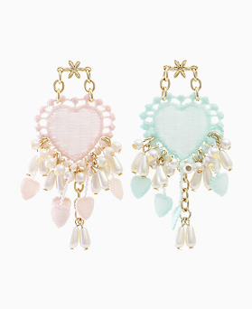 1045829 - <ER1374_IB02> Lowell heart choker earrings