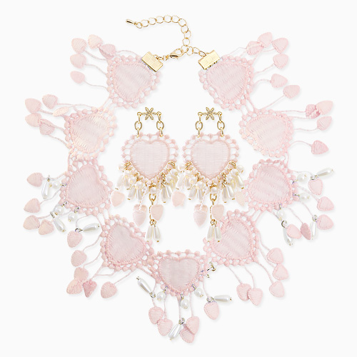 1045831 - <JS254_IB02> [necklace + earrings] Lowell heart choker set