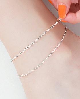 1045835 - <SL477-BE00> [Silver] Sasha 2line anklet