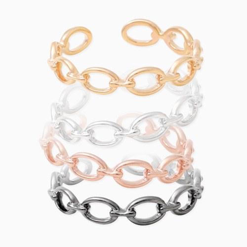 1045841 - <RI723_JD25> [Silver] Buddy chain ring