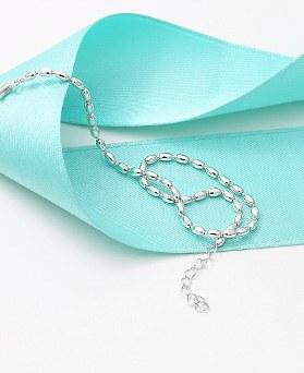 1045848 - <SL478-BD00> [Silver] shine sausage chain anklet