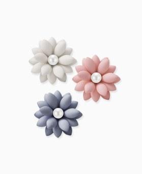 1045855 - <ER1373_CD05> [Silver Post] Lavia Flower earrings