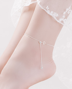 1045863 - <BC689_HH07> [Combination bracelet anklet] [Silver] free ball chain anklet