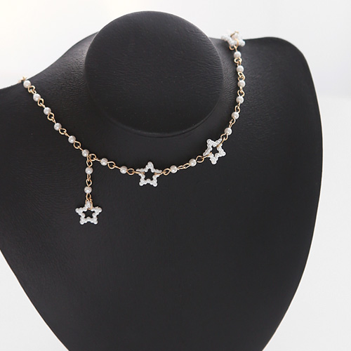 1045865 - <NE428_IG033> collar pearl choker necklace