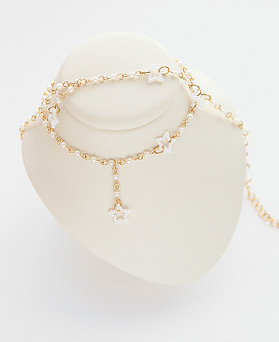 1045867 - <JS256_IG03> [necklace + anklet] collar pearl set
