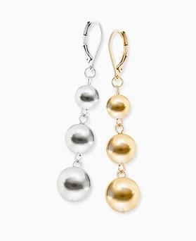 1045874 - [Clip type] tribale ball earrings
