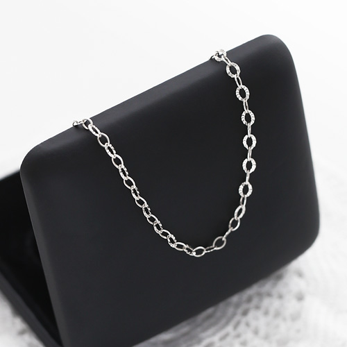 1045881 - <SL491-BD00> [bracelet + anklet] [Silver] cutting chain set