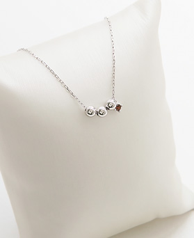1045883 - <SL456-BD00> [Silver] 3ball Chocolate anklet