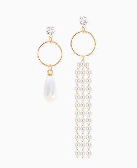 1045890 - <ER1387_CB12> Unbalanced Verdi pearl earrings