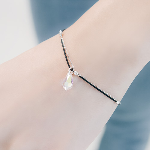 1045893 - <BC686_IB04> Water drop crystal bracelet