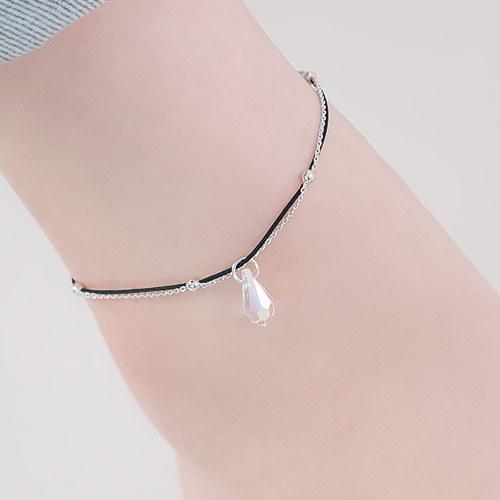 1045894 - <BC685_IB04> Water drop crystal anklet