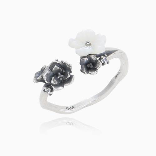 1045897 - <RI726_JF24> [Silver] White eve ring