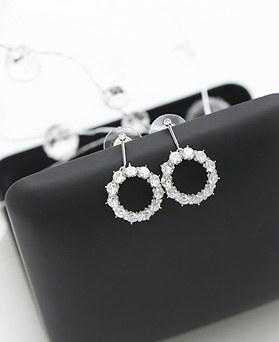 1045920 - <ER1397_CE07> [Silver Post] Flower earrings