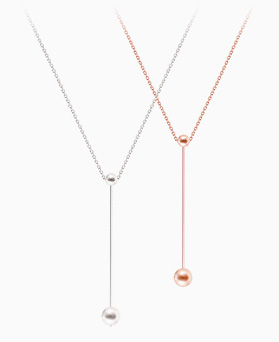 1045927 - <SL451-BE06> [Silver] Ios stick necklace