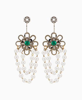 1045929 - <ER1402_CC07> [Silver Post] pearl drop earrings