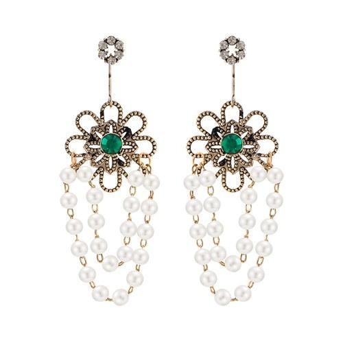 1045929 - <ER1402_CC07> [Silver Post] pearl drop earrings