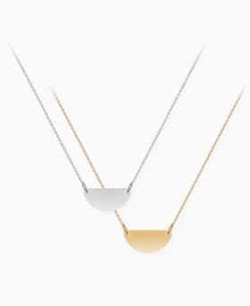 1045935 - [Silver] Mini half necklace