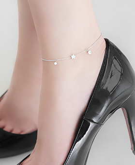 1045942 - <SL460-BD00> [Silver] Esther star anklet