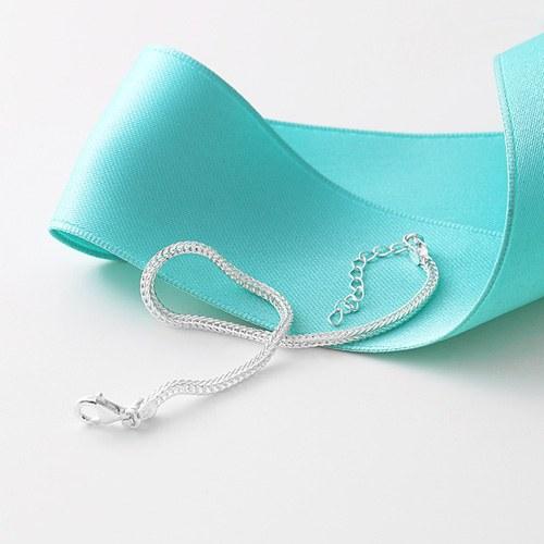 1045956 - <SL460-BE00> [Silver] Vincent chain bracelet