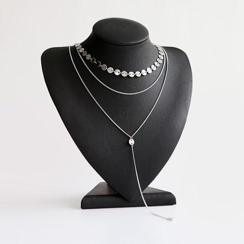 1045957 - <NE430_BA02> Klaus 3line necklace