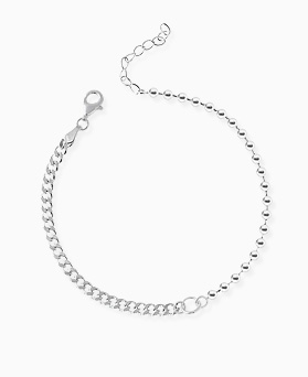 1045966 - <SL480-BD00> [Silver] Champ ball chain bracelet