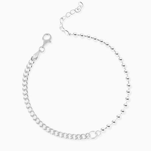1045966 - <SL480-BD00> [Silver] Champ ball chain bracelet