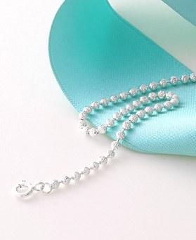1045978 - <SL468-BE00> [Silver] wave ball bracelet