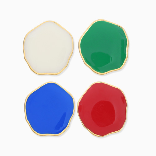 1045990 - <ER1388_CB12> [clip type] AIDA button earrings
