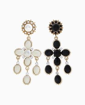 1046000 - <ER1410_CF12> Reina cross earrings