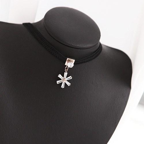 1046006 - <NE436_BC08> ribbon Ann Flower choker necklace