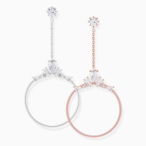 1046034 - [Clip type] queen round drop earrings