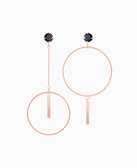 1046041 - <ER1398_CD10> [clip type] Unbalanced superbly earrings