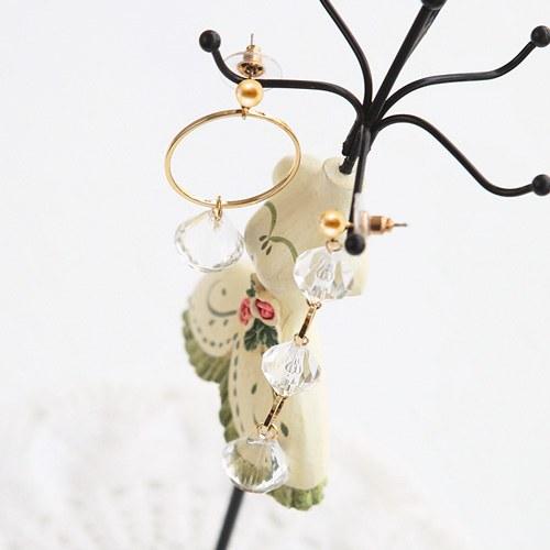 1046043 - <ER1412_CG18> [clip type] Fella Unbalanced earrings