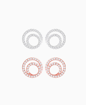1046045 - <ER1423_DC18> [Silver Post] Sheri's round earrings