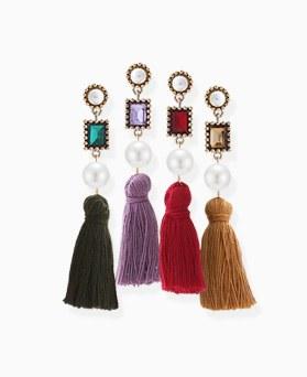 1046046 - <ER1417_CH15> Edelin tassel earrings