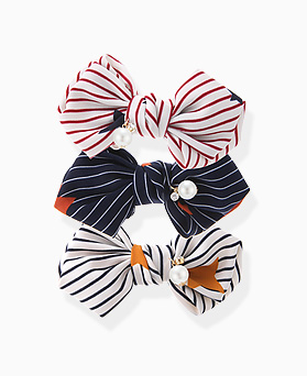 1046047 - <HA550_FD06> Stripe ribbon hairpin