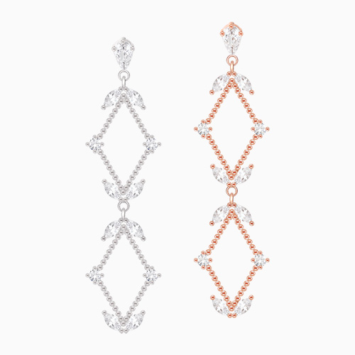 1046049 - <ER1422_CB17> [Silver Post] Crispy drop earrings