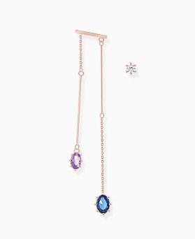 1046087 - <ER1431_CC17> [Release Date] [Silver Post] Kali Unbalanced drop earrings