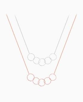 1046146 - <SL494_BE00> [Silver] Iliana bubble necklace