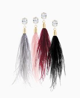 1046151 - <ER1438_CA16> Jeffrey feather earrings