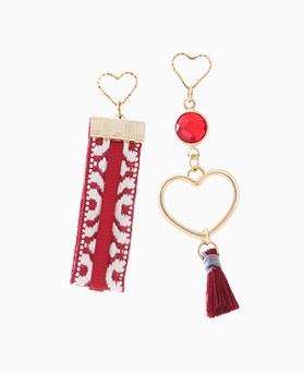 1046179 - <ER1446_CB15> Unbalanced tassel earrings