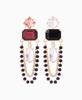 1046186 - <ER1441_CH18> Blondie crystal earrings