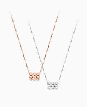1046210 - <SL509_BE00> [Silver] square grape necklace