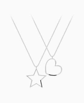 1046213 - <SL503_BD00> [Silver] Ace triple necklace