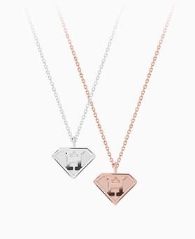1046215 - <SL504_BD00> [Silver] Superman necklace
